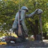 Fallen Comrade Statue by NickACJones