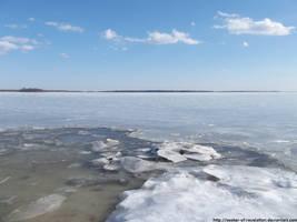 Frozen Gunpowder River by NickACJones