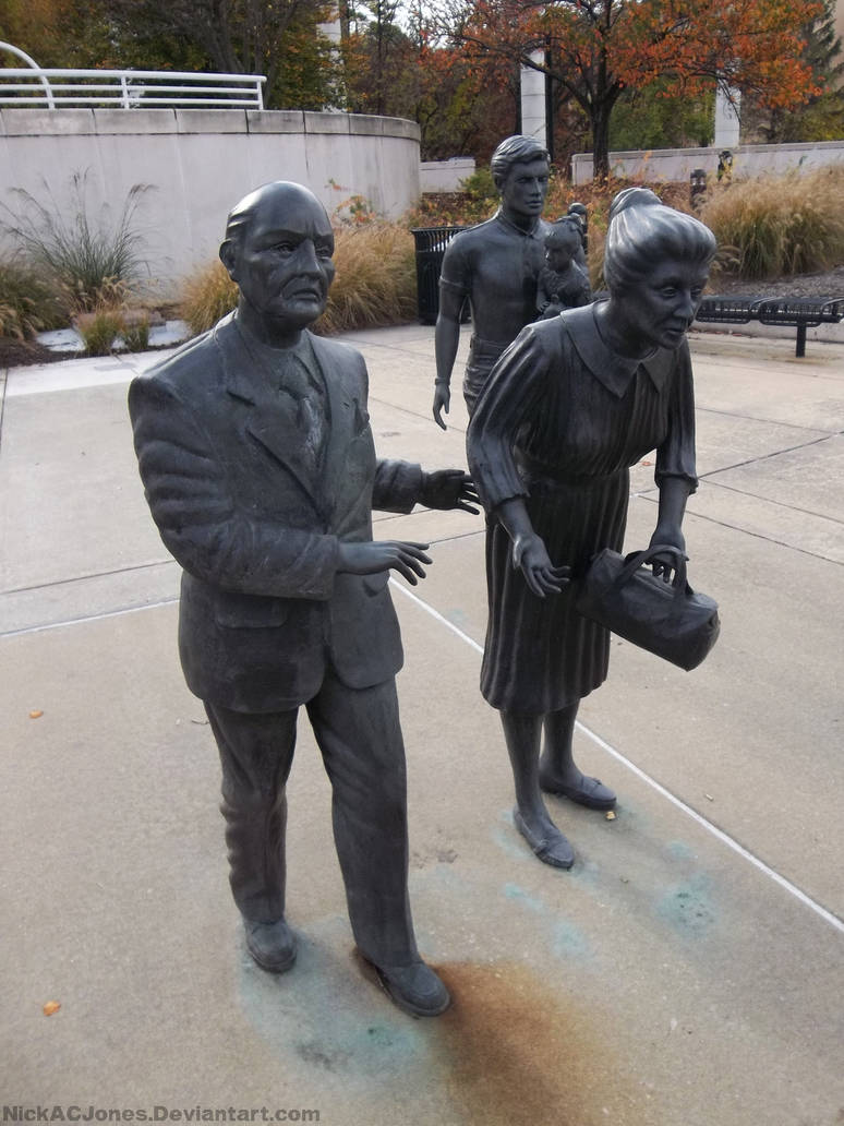 Cancer march statues by NickACJones