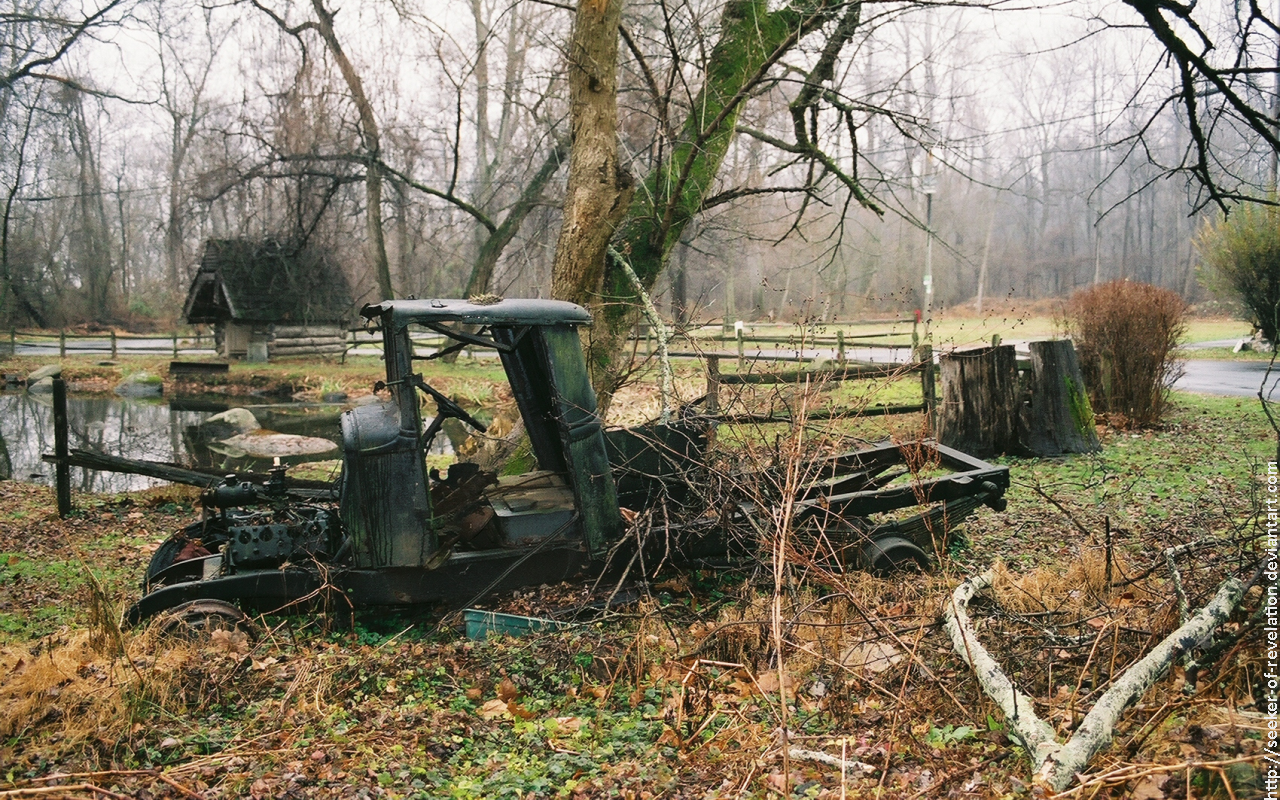 Old truck by a pond by NickACJones
