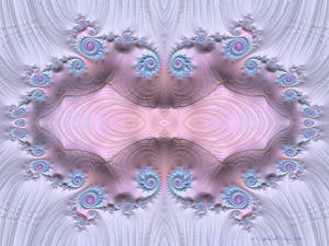 Pink and Blue Tiled Fractal by CopperScaleDragon