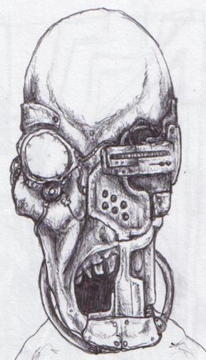 Cyborg face by asylums...