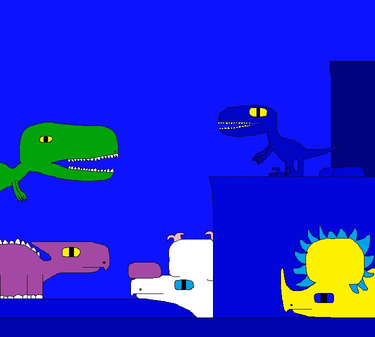 Pachyrhinosaurus and Styracosaurus by Gojirafan1994