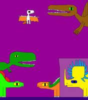 Stegosaurus and Tyrannosaurus rex 2 by Gojirafan1994