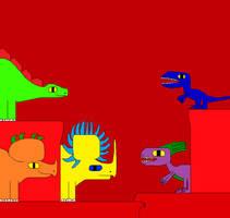 Stegosaurus and Velociraptor 4 by Gojirafan1994