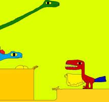 Achillobator and Diplodocus by Gojirafan1994