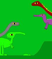 Apatosaurus and Parasaurolophus 3 by Gojirafan1994
