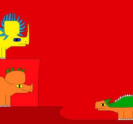 Styracosaurus and Sinoceratops 3 by Gojirafan1994
