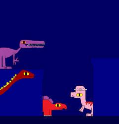 Kentrosaurus and Brontosaurus by Gojirafan1994
