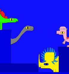 Apatosaurus and Stegosaurus 10 by Gojirafan1994