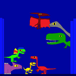 Tyrannosaurus rex and Pteranodon 7 by Gojirafan1994