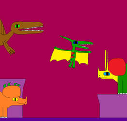 Ludodactylus and Triceratops 2 by Gojirafan1994