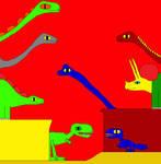 Argentinosaurus and Triceratops 2