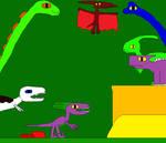 Argentinosaurus and Parasaurolophus 5