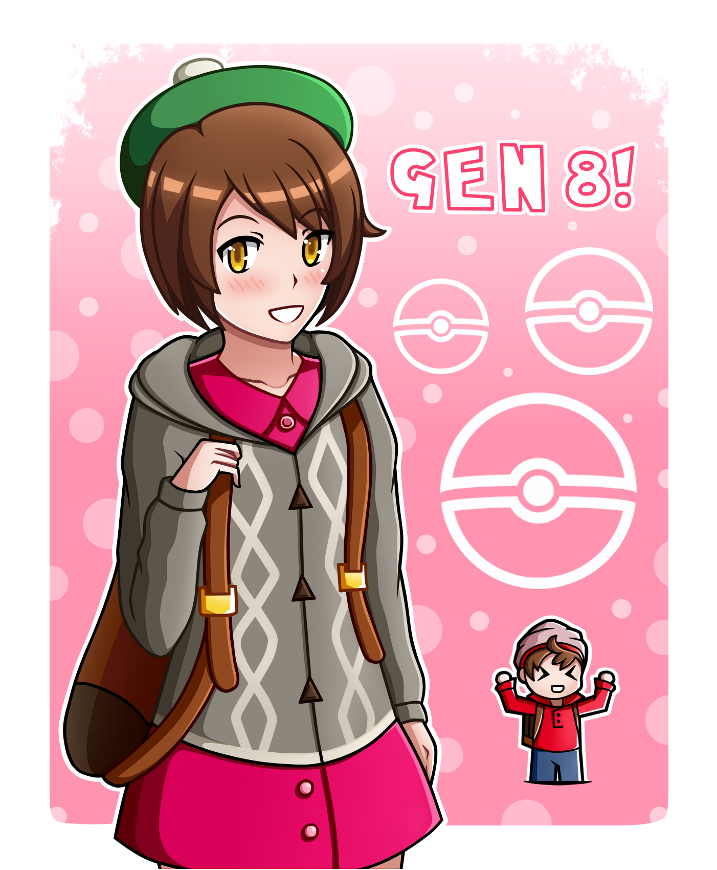 Pokemon Sword And Shield Trainers By Senchodoodle On Deviantart