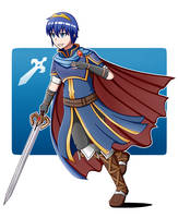 Fire Emblem: Marth by SenchoDoodle
