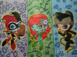 Harley Quinn Poison Ivy and Catwoman