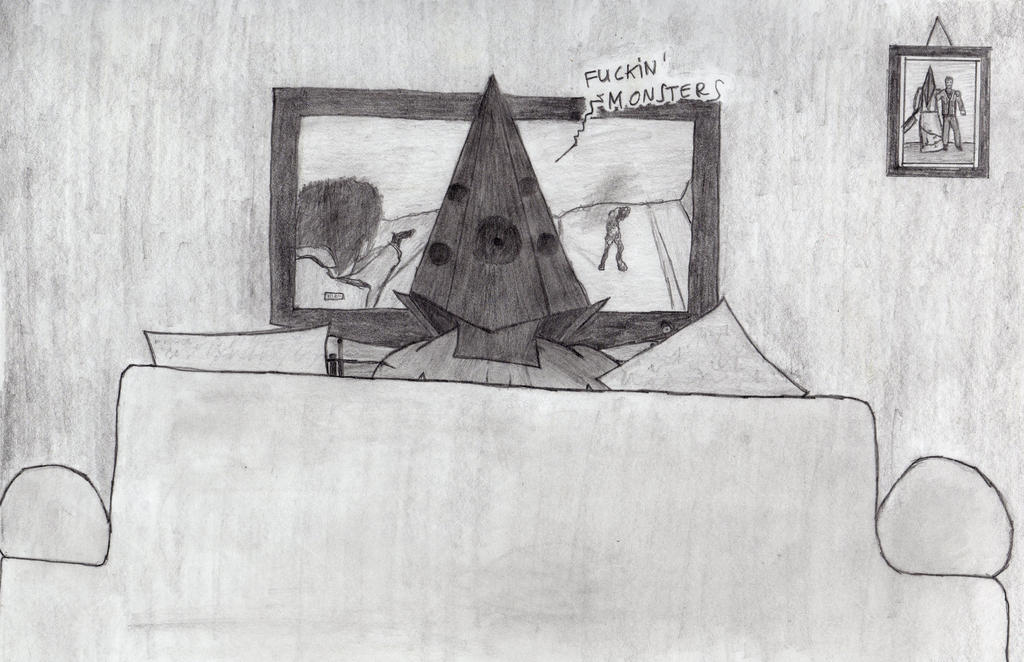 Pyramid Head plays Homecoming by silent9213hill