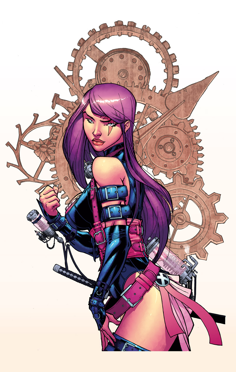 Steampunk Psylocke by Barberi by Ross-A-Campbell