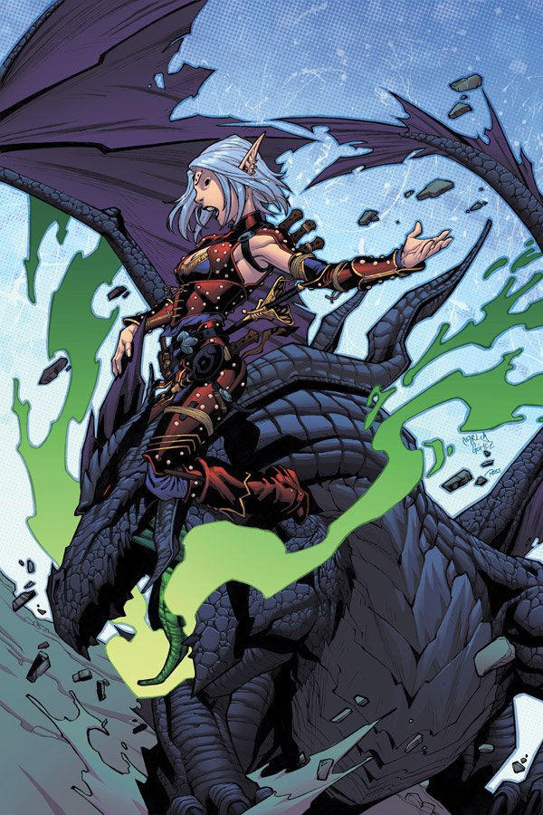Pathfinder #12 Cover - unrevised version by Ross-A-Campbell