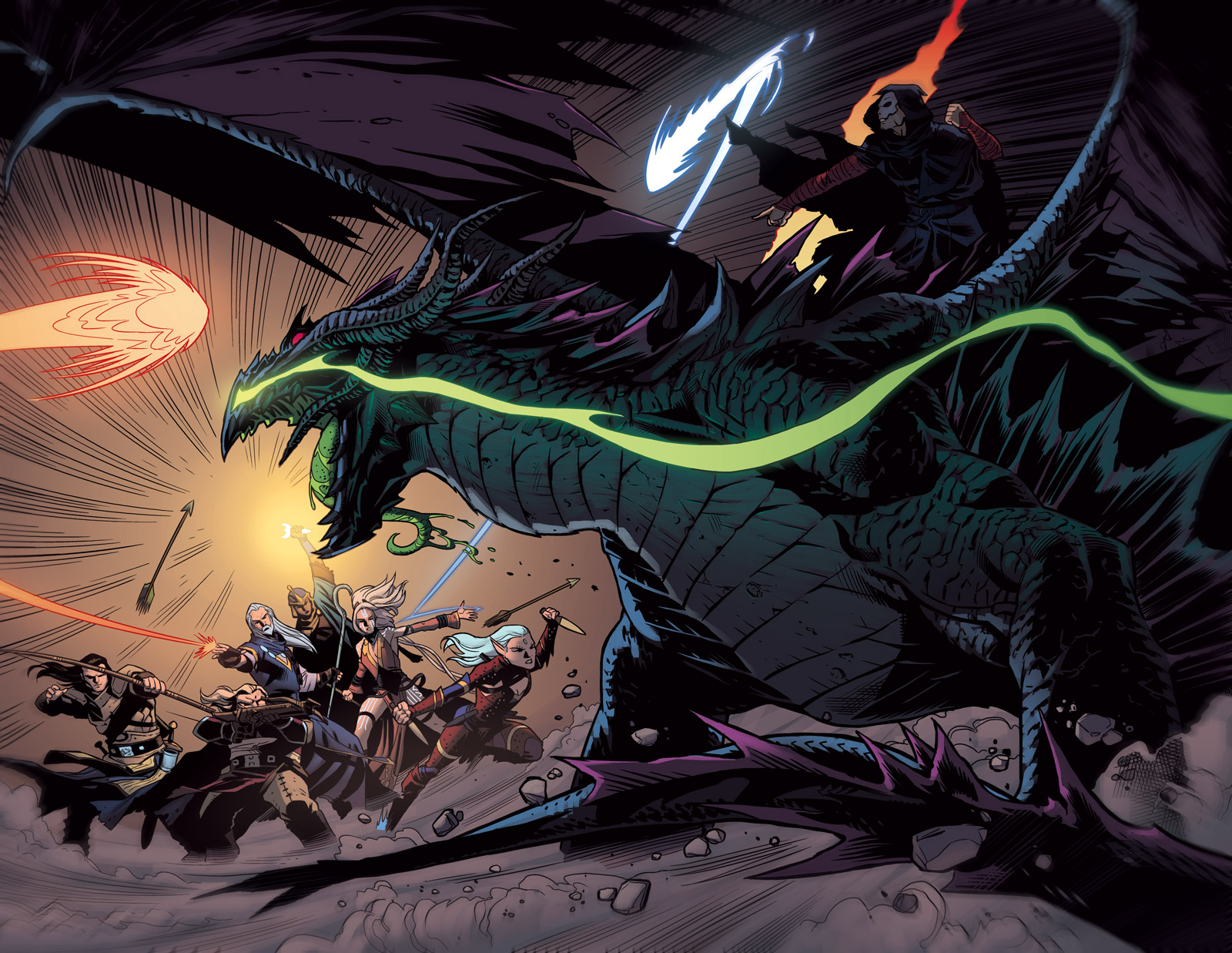 Pathfinder #12 Two-page spread by Ross-A-Campbell
