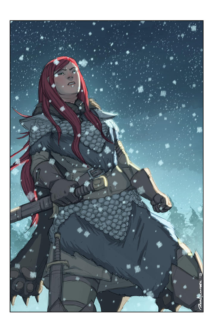 Red Sonja Snowy by Ross-A-Campbell