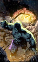 Hulk Color Battle by Ross-A-Campbell