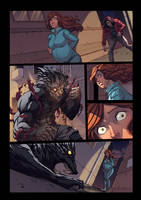 Night Wolf Comic Book Issue #1 Colored Page 23 by Ross-A-Campbell