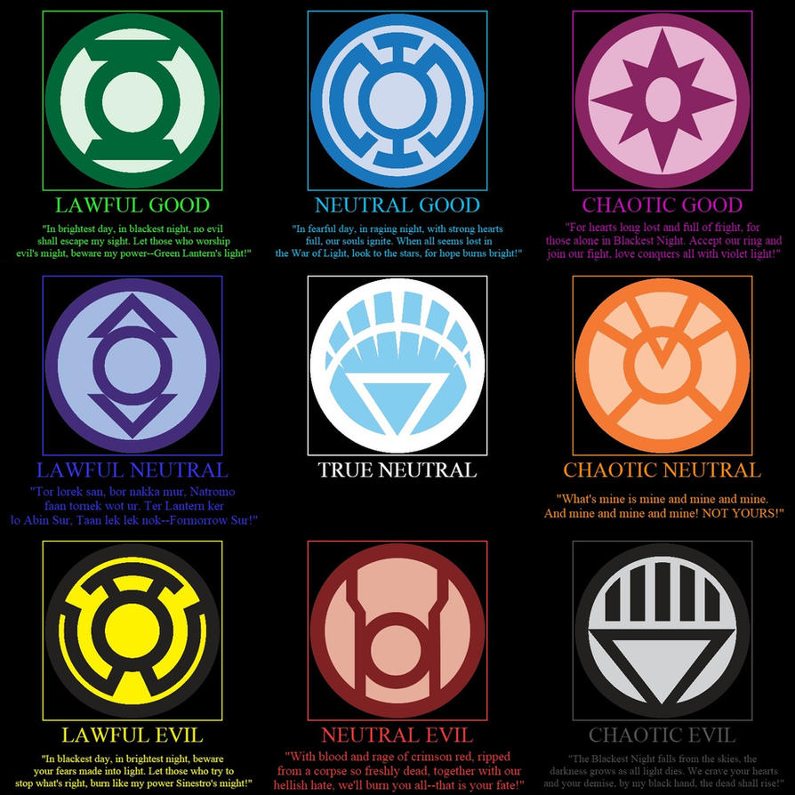 Lantern Corps. alignment table by ImdaBatman on DeviantArt