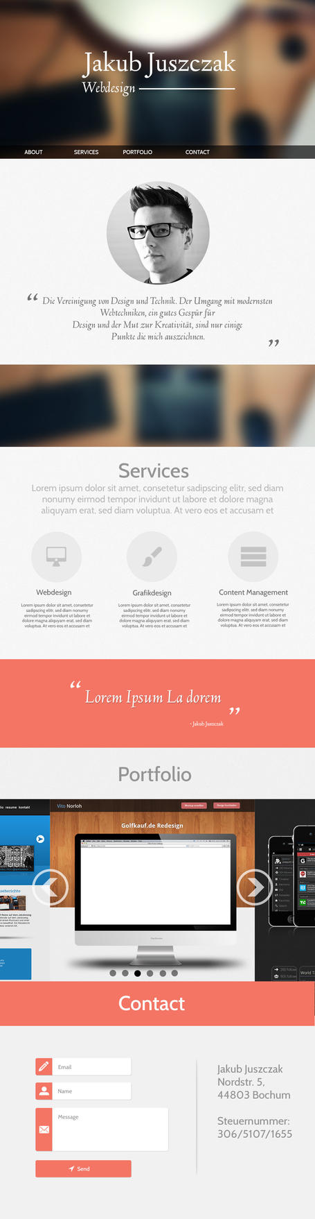 Responsive Single-Page Layout by NetGhost03