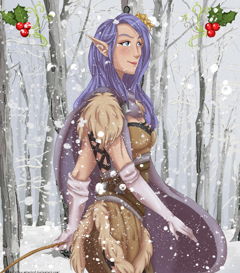 Snowy Mistletoe by Silva-Minstrel