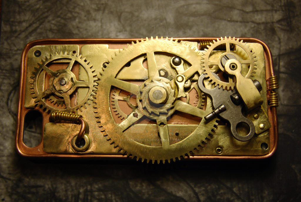 Steampunk case for iPhone 5 by cybercrafts on DeviantArt