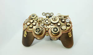 Steampunk PS2 Controller