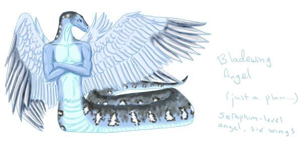 Bladewing angel by Alhippa