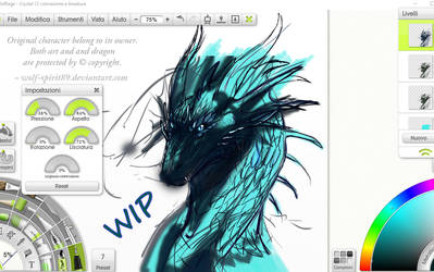 Crystal_Glacier - Ice Dragon (WIP commission) by Wolf-Spirit89