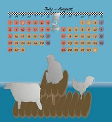 Zodiac calendar 2012 Jul-Aug