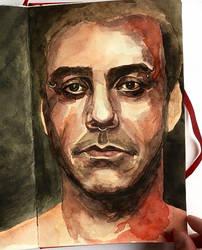 portrait of Till Lindemann by VictoriaInArts