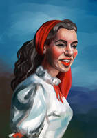portrait of the young Marilyn Monroe by VictoriaInArts