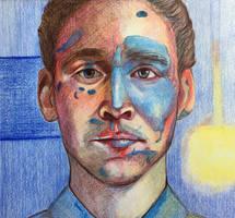 portrait of Tom Hiddleston by VictoriaInArts