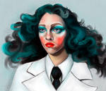 turquoise lady by VictoriaInArts