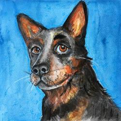 a doggo by VictoriaInArts