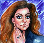 supposed to be a sketch portrait of Michelle Gomez by VictoriaInArts