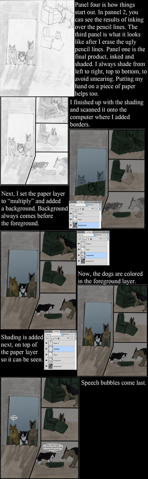 My Comic Tutorial (Color under style) by Rebel-Rider