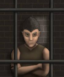 Thorne caged by Rebel-Rider