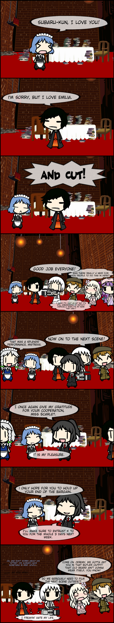 Cue Re Zero Reference!!! by DarkJar001