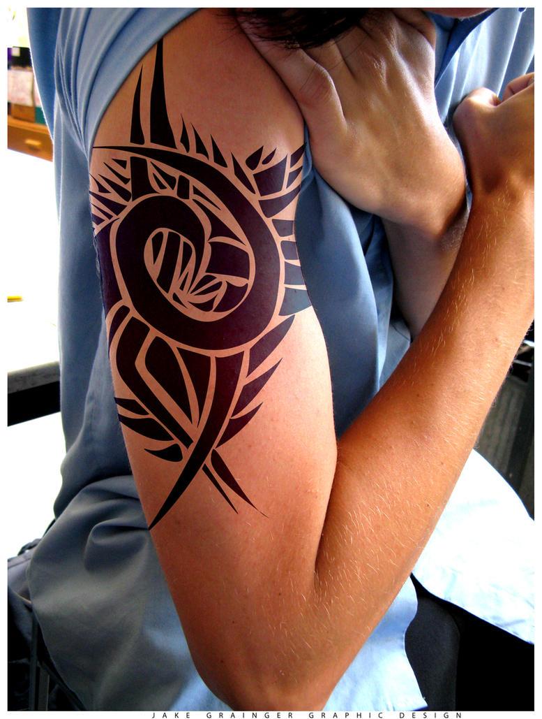 Rose tribal tattoo design by jakedermad on deviantart for Tribal tattoo shops near me