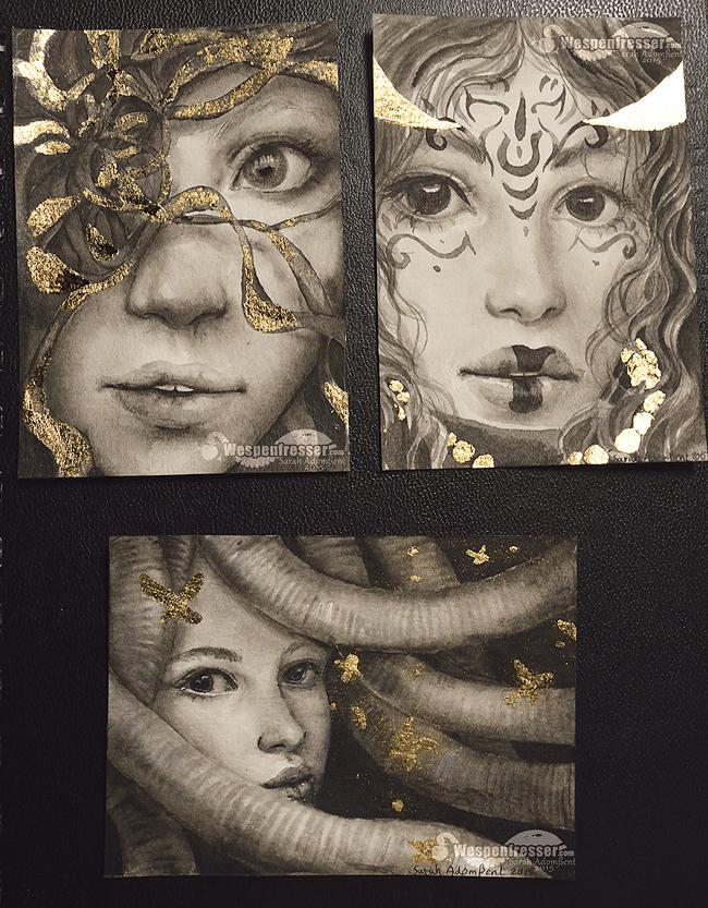 BW Gold Faces 07 2015 by Wespenfresser