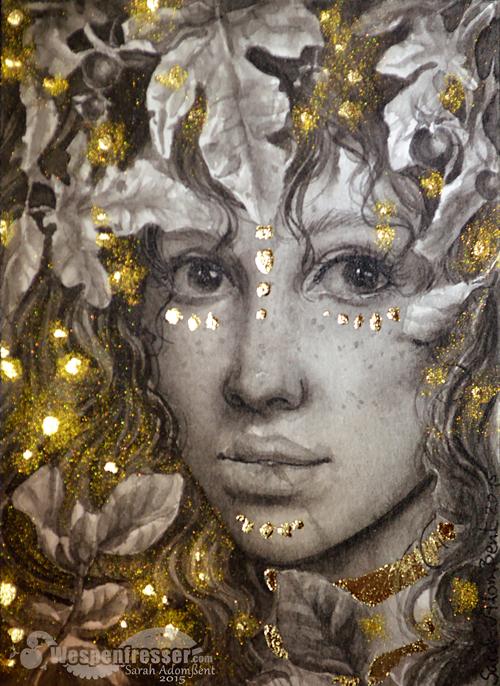 Ink Blatt-Gesicht Goldoverkill by Wespenfresser