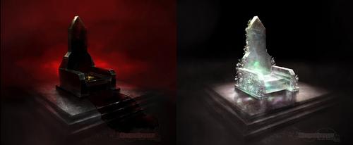 Schattenthron + Kristallthron by Wespenfresser