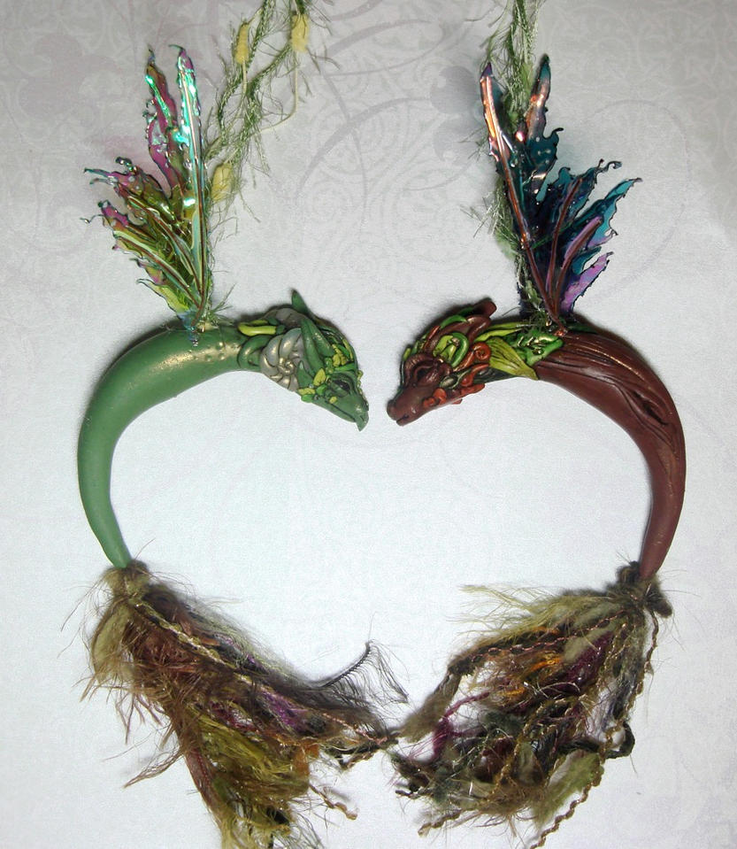 If I were a dragon ... I would look like this .. - Page 4 Fairy_dragon_ornaments_by_elvenelysium-d4by508